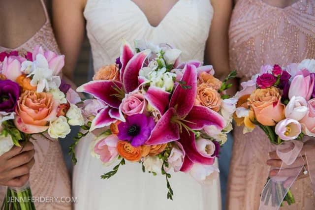 Prado wedding san diego, magenta wedding bouquet,